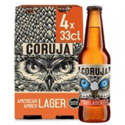 Cerveja com Álcool Coruja American Amber Lager 4x330mL (4 uni)