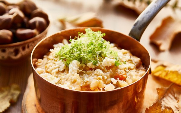 Chestnut and Pumpkin Risotto