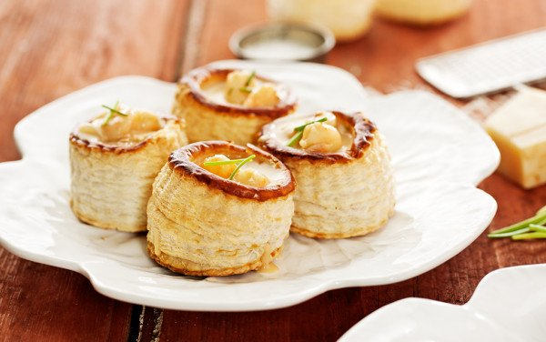 Vol-au-Vents with Shrimp Stuffing