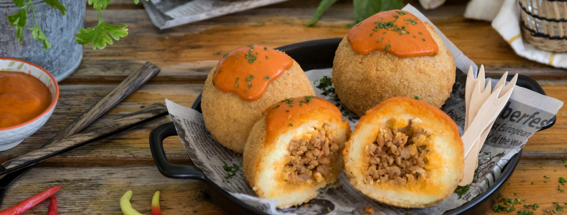 Meat Balls Stuffed with Meat