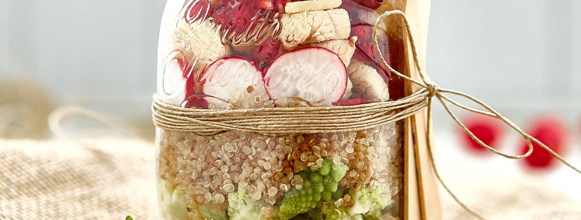 Quinoa, Chicken and Pomegranate Salad