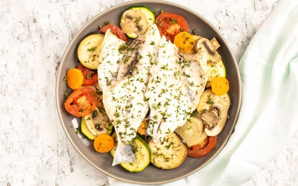 Corvina with Oven Vegetables