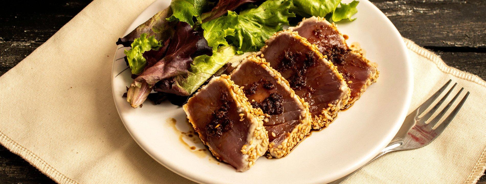 Tuna Tuna with Olive Purée
