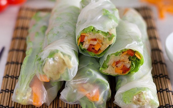 Tuna and Avocado Vietnamese Rolls