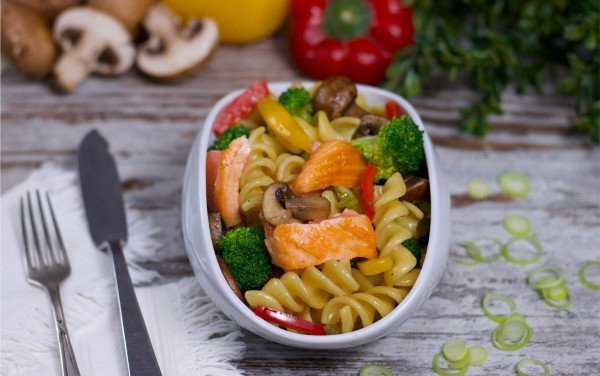 Wholemeal Pasta with Salmon