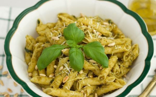 Penne Rigate with Pesto Caseiro