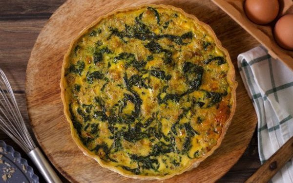 Quiche with Alheira and Sprouts