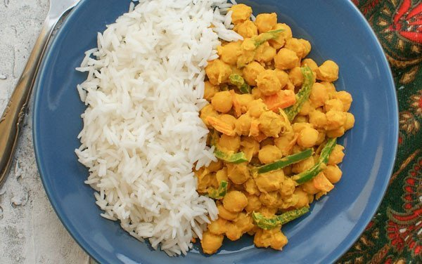 Grain Curry with Basmati Rice