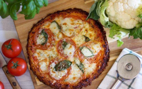 Pizza Margherita de Couve Flor