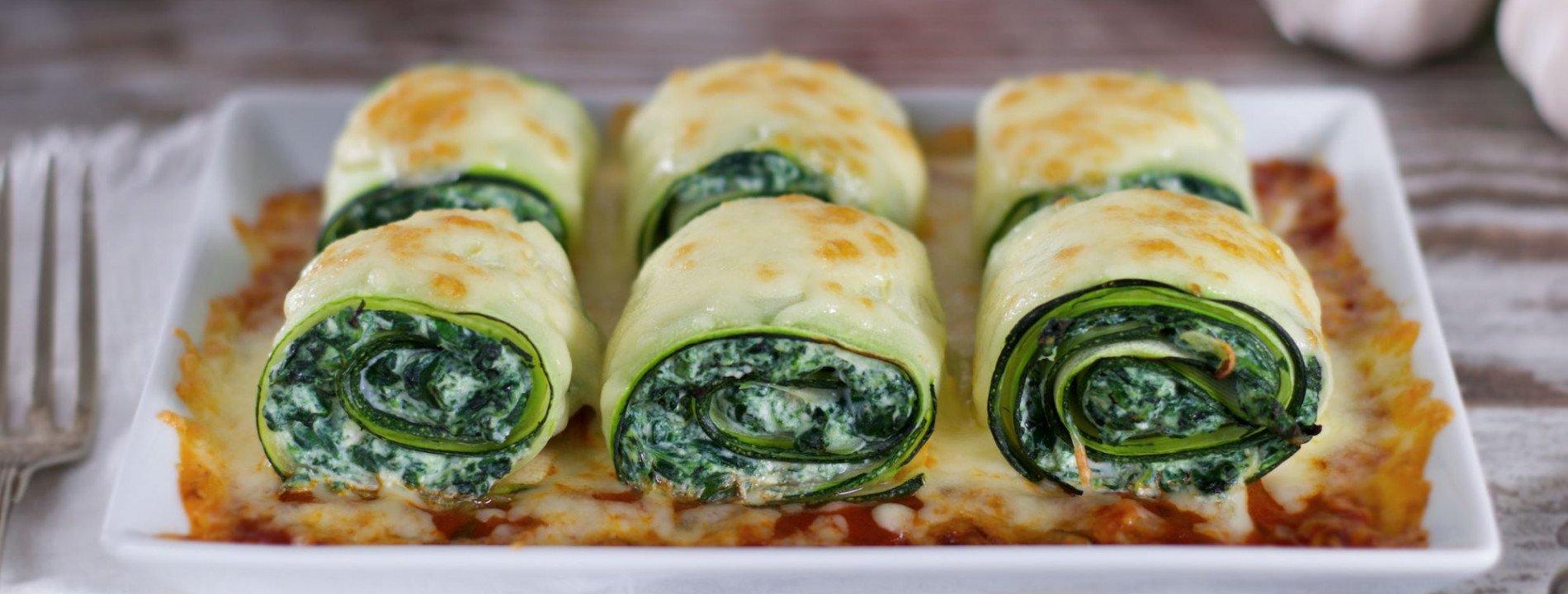 Ricotta and Spinach Stuffed Zucchini Cannelloni