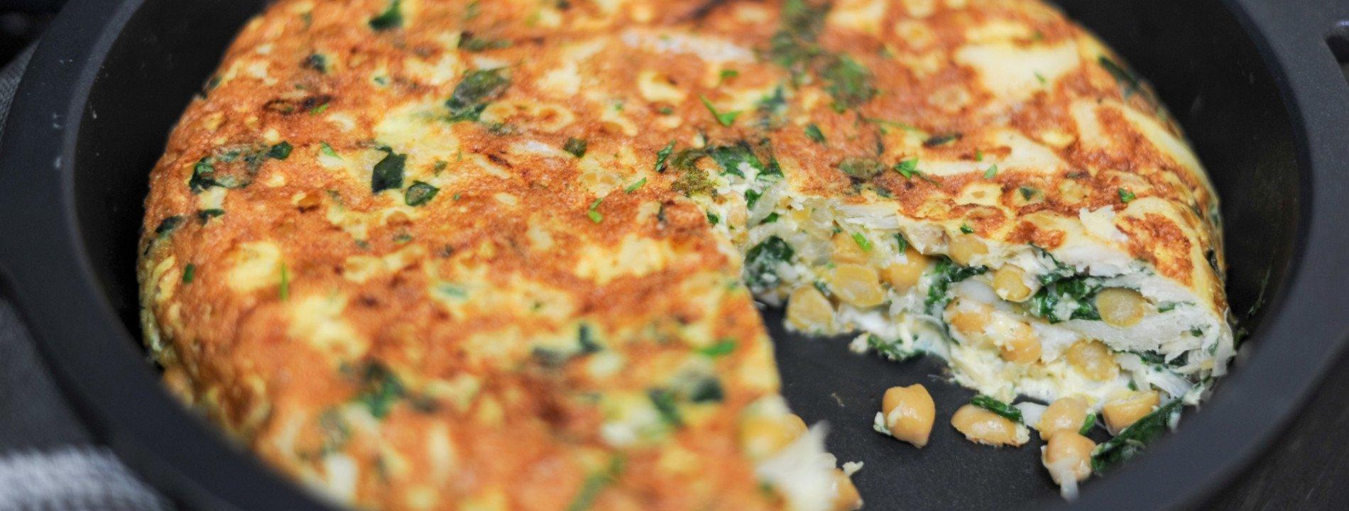Tortilla de Bacalhau com Grão-de-Bico