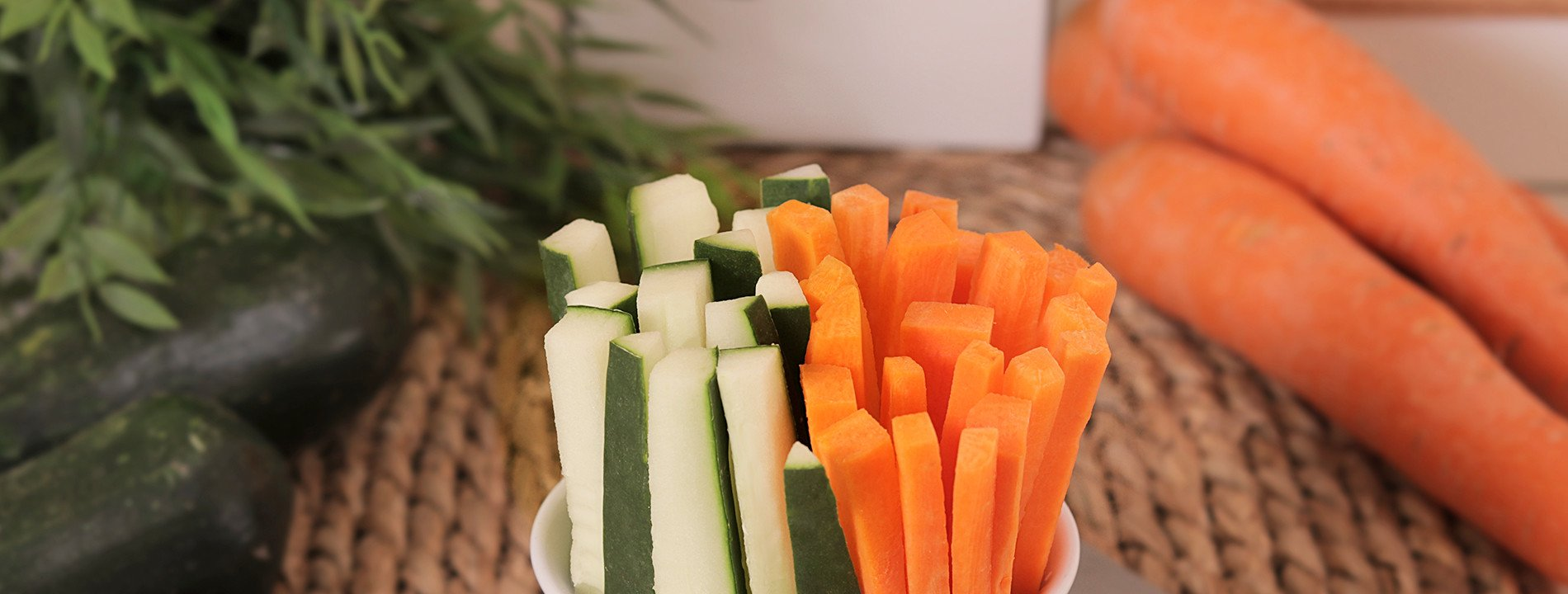Mix Carrot Sticks and Zucchini