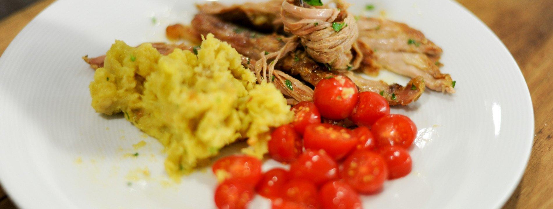 Duroc Pork Tenderloins with Sweet Potato