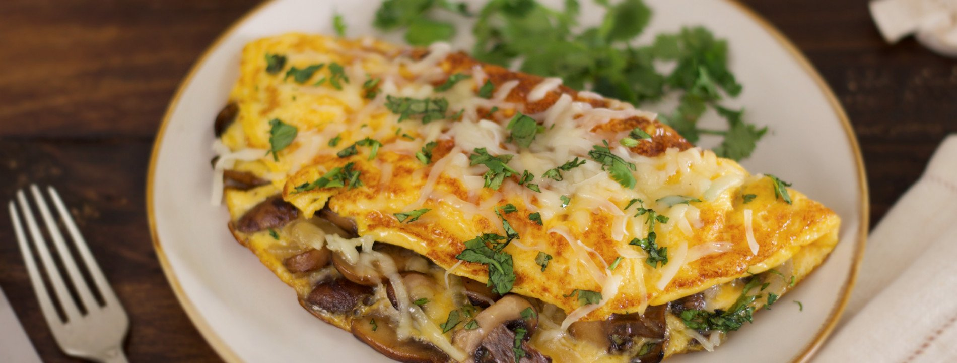 Onion and Mushroom Omelet
