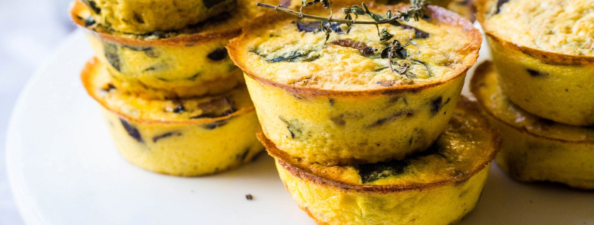 Mushroom and Spinach Mini Quiches