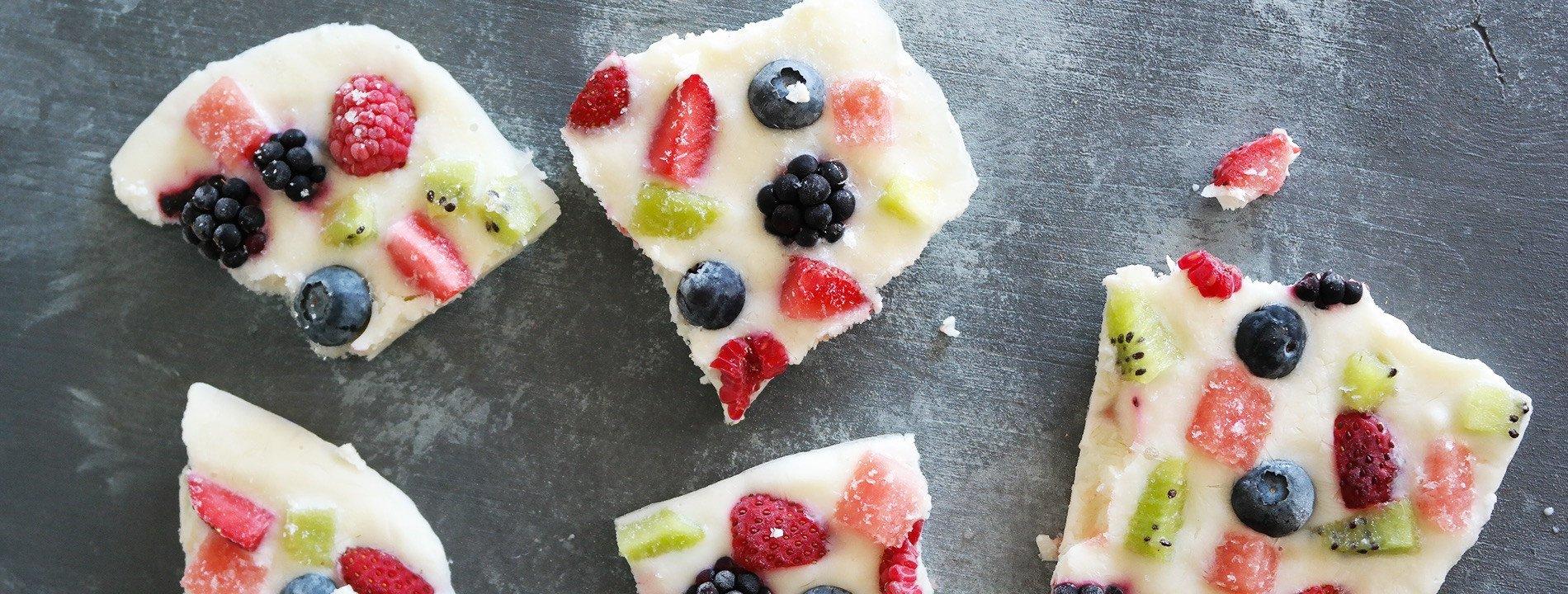 Crackers de Iogurte e Frutas