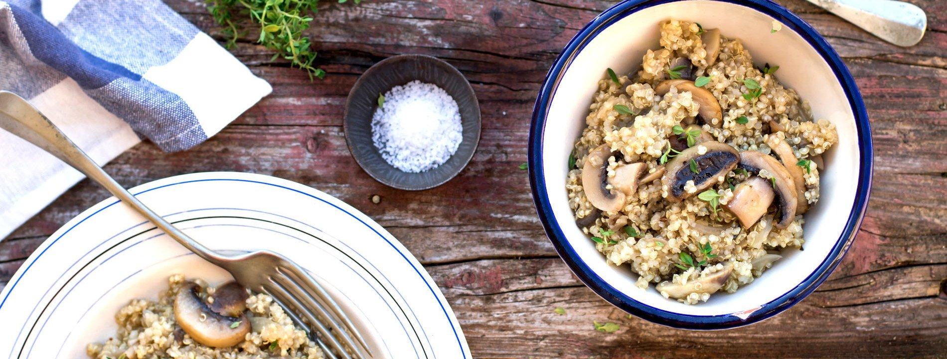 Quinoa Malandra Mushrooms