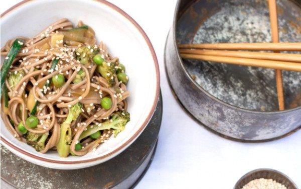 Yakisoba de Noodles de Arroz