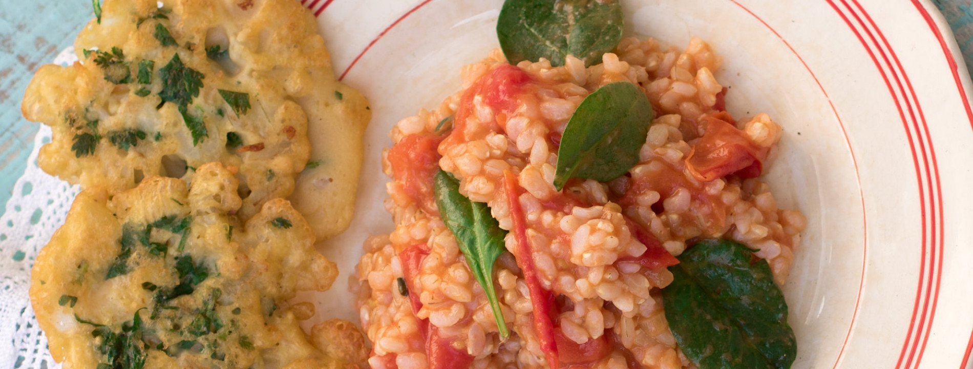 Chickpeas Fried with Tomato Rice