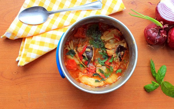 Fish Stew with Yam