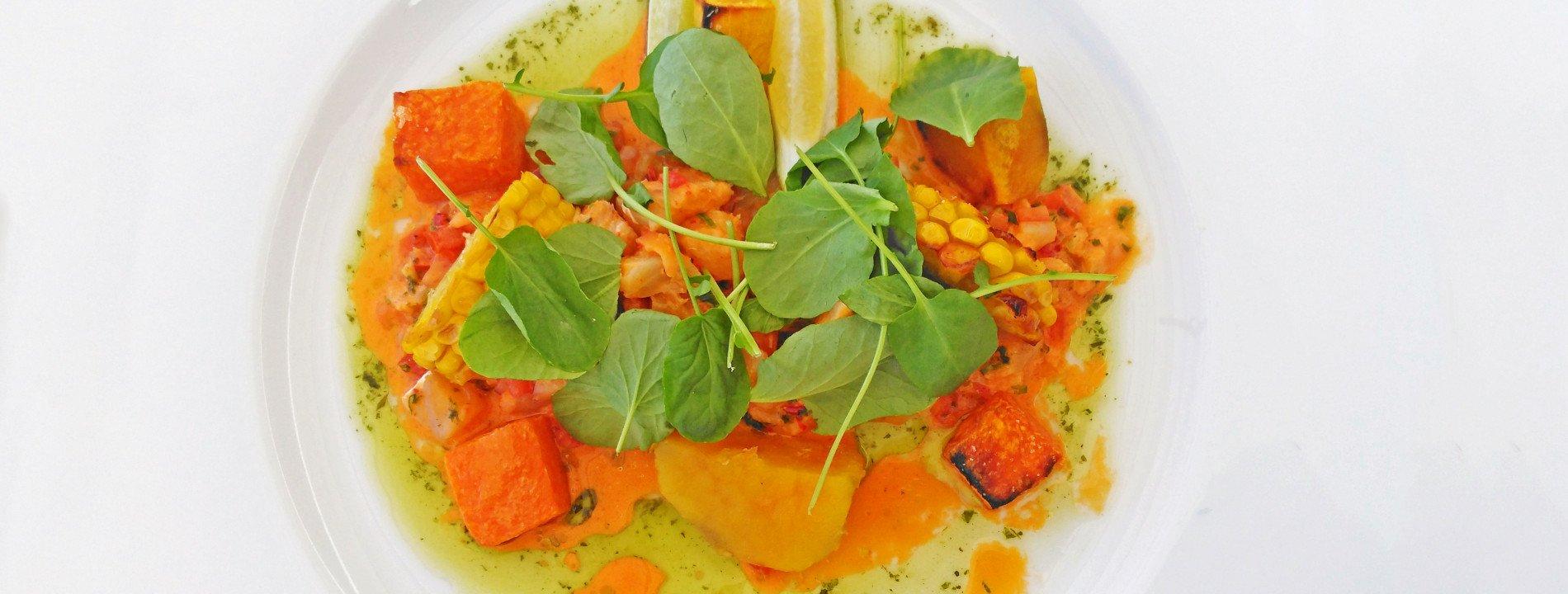 Autumn Salad with Cod