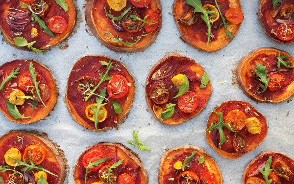Mini Sweet Potato Symbiotic Pizzas
