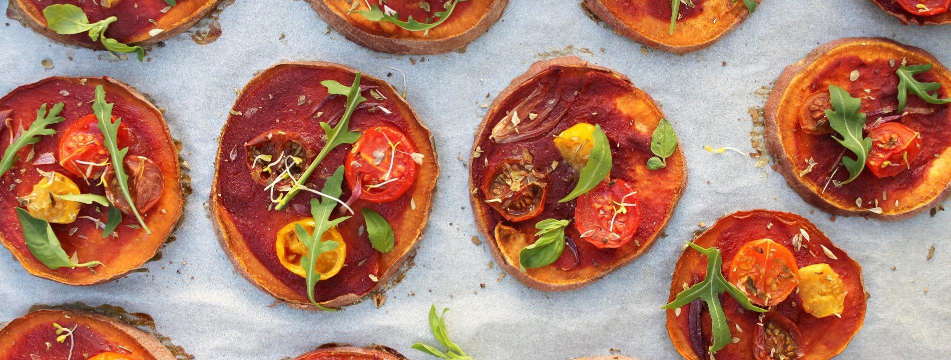 Mini Pizzas Simbióticas de Batata Doce