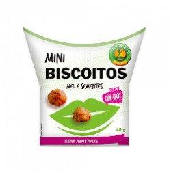 Snack Mini Biscoitos Mel e Sementes 50gr