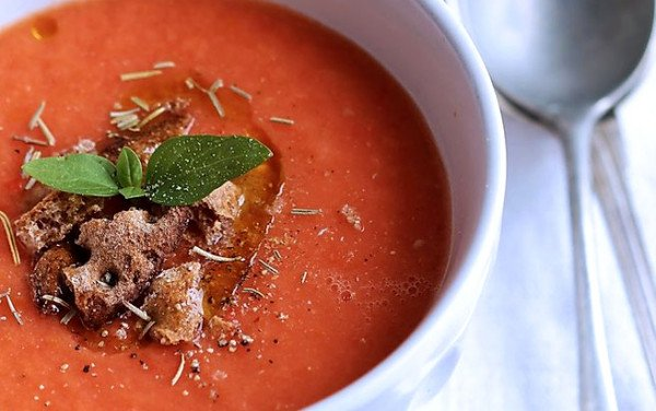 Spicy Gazpacho with Basil
