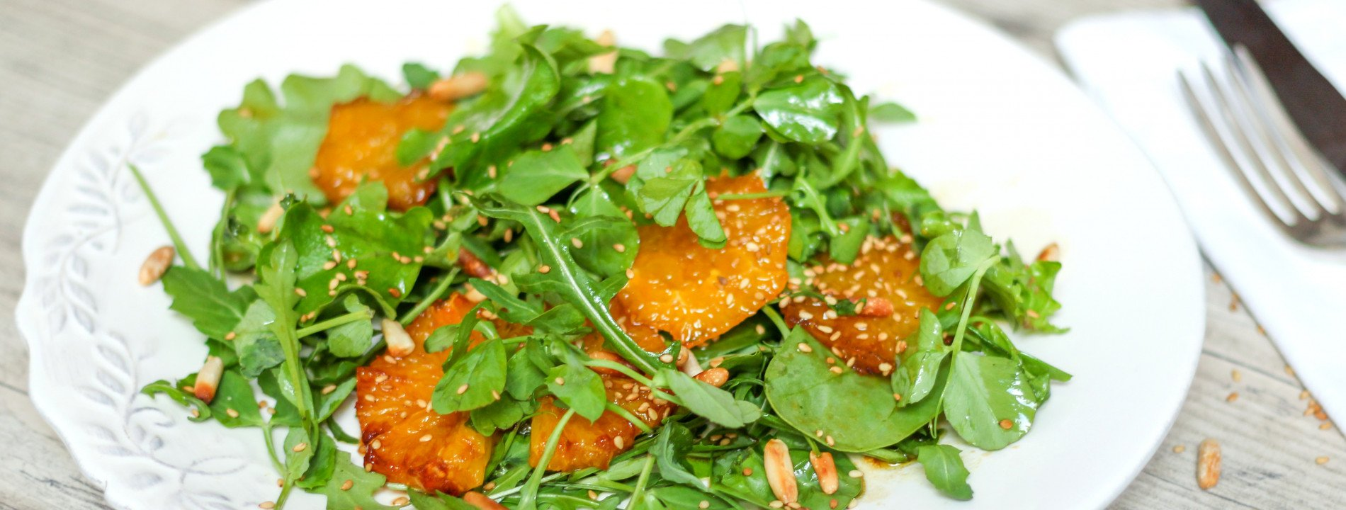 Green Salad with Caramelized Oranges