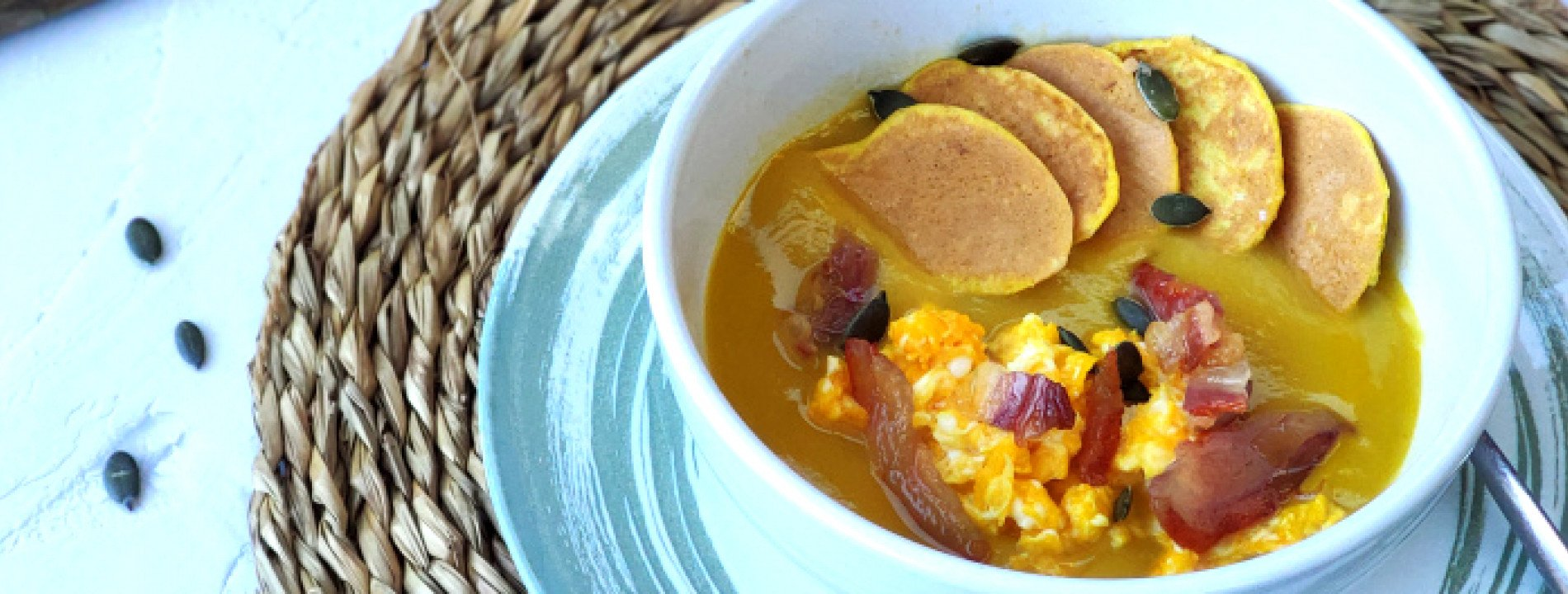 Low Carb Pancakes in Soup